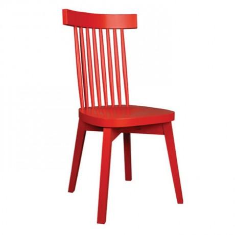 Kırmızı Boyalı Tornalı Sandalye - ths9530s
