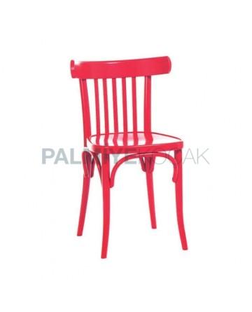 Kırmızı Lake Boyalı Tonet Sandalye
