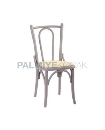 Klasik Ahşap Tonet Sandalye Patineli Boyalı