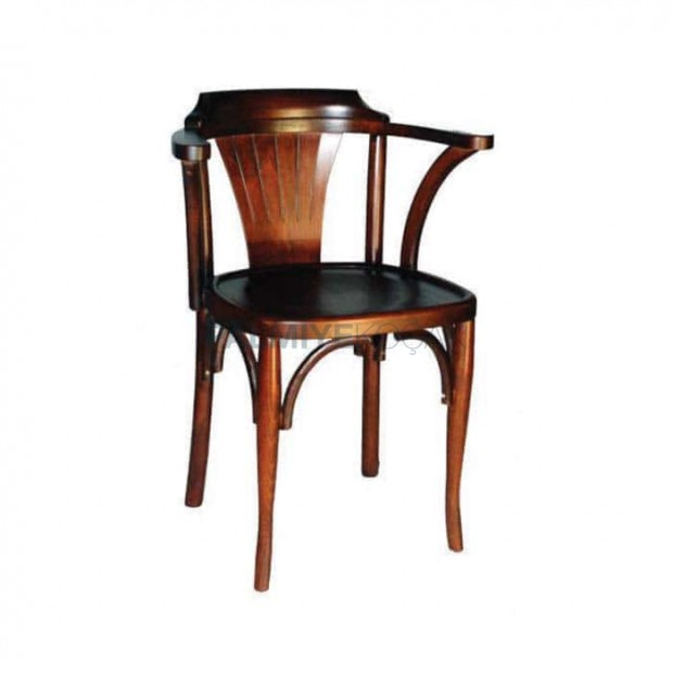 Wooden Thonet Chair with Arm