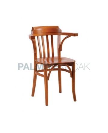 Kollu Meşe Boyalı Ahşap Tonet Sandalye