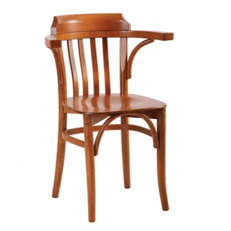 Kollu Meşe Boyalı Ahşap Tonet Sandalye - ths9408s