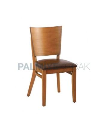 Kontra Sırtlı Ahşap Tonet Sandalye