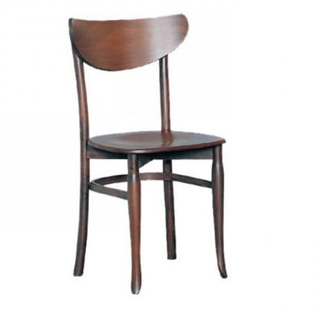 Koyu Ahşap Boyalı Cafe Sandalyesi - ths9403s
