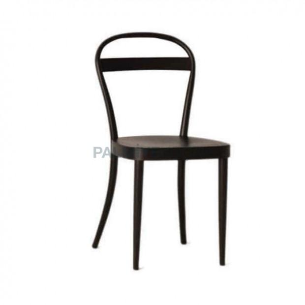 Koyu Venge Boyalı Ahşap Sandalye