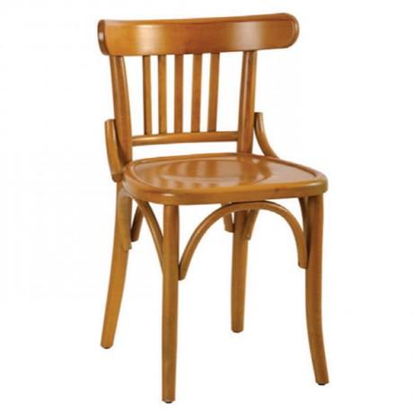Natural Boyalı Dik Çıtalı Ahşap Tonet Sandalye - ths9528s