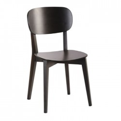 Black Painted Thonet Restaurant Chair