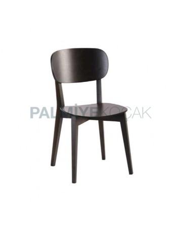 Siyah Boyalı Tonet Restoran Sandalyesi