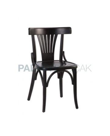 Siyah Lake Boyalı Yelpaze Sırtlı Tonet Sandalye