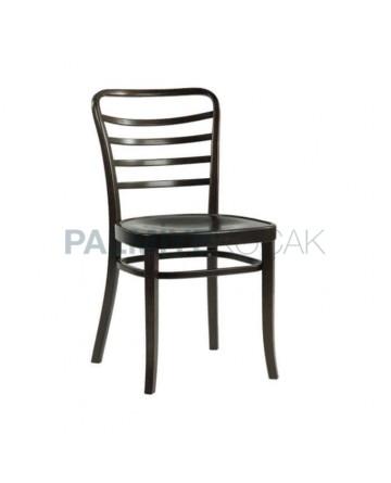 Yatay Cilalı Ahşap Tonet Sandalye