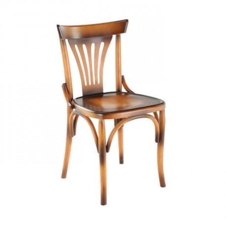 Yelpaze Sırtlı Boyalı AhşapThonet Sandalye - ths9507s