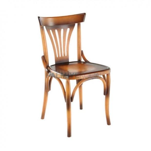 Yelpaze Sırtlı Boyalı AhşapThonet Sandalye