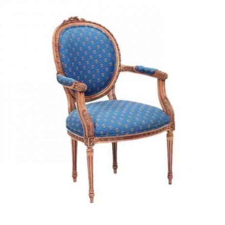 Tornalı Mavi Kumaş Döşemeli Sandalye - ksak41