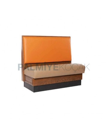 Orange Leather Wooden Cedar
