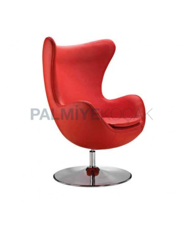 Orange Leather Upholstered Luxurious Polyurethane Armchair