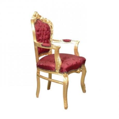 Varaklı Oymalı Klasik Kollu Sandalye - ksak122