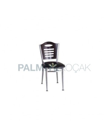 Wenge Wooden Chrome Coated Chair
