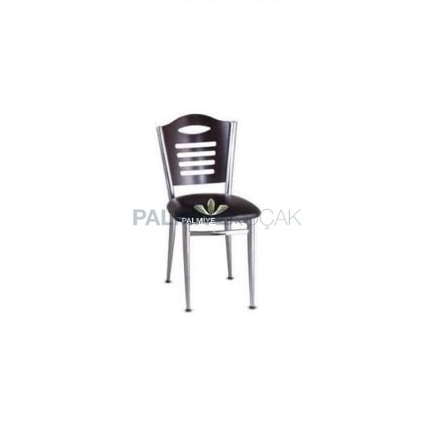 Wenge Ahşap Krom Kaplı Sandalye