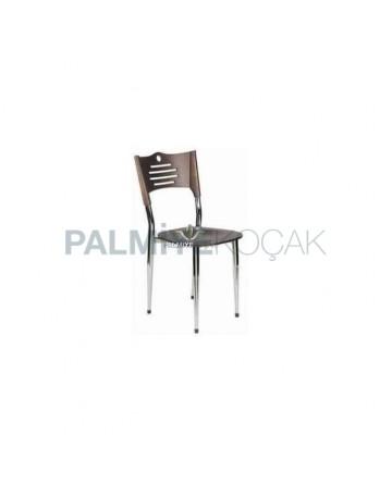 Wenge Chrome Metal Chair