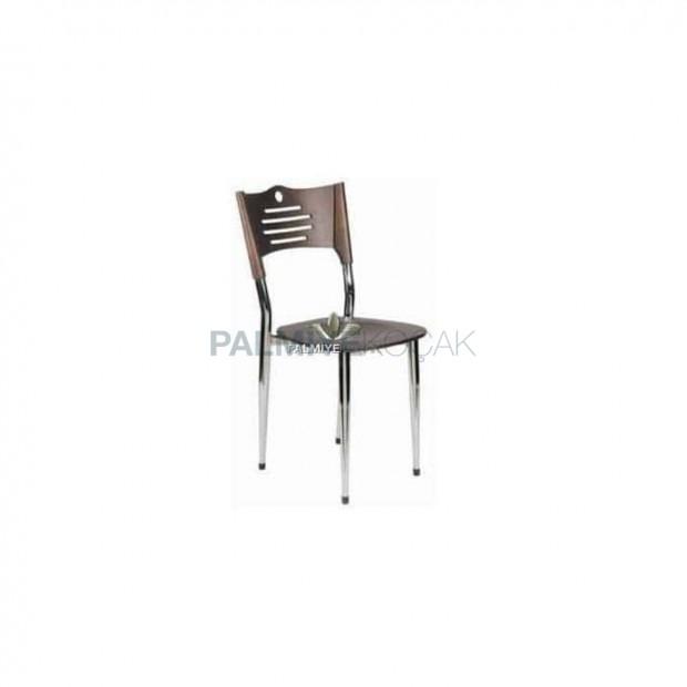 Wenge Krom Metal Sandalye