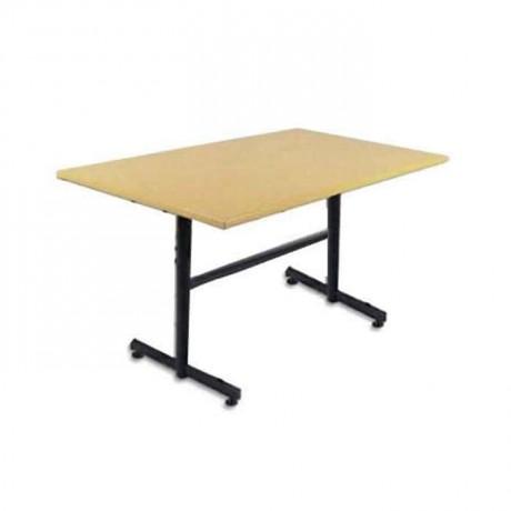 80x120 Werzalit Tablalı T Ayaklı Yemekhane Masası -