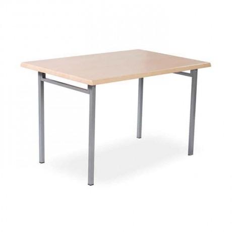 80x140 Werzalit Tablalı 4 Ayaklı Yemekhane Masası -