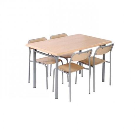 Akça Ağaç Yemekhane Verzalit Masa Sandalye Takımı - wma05