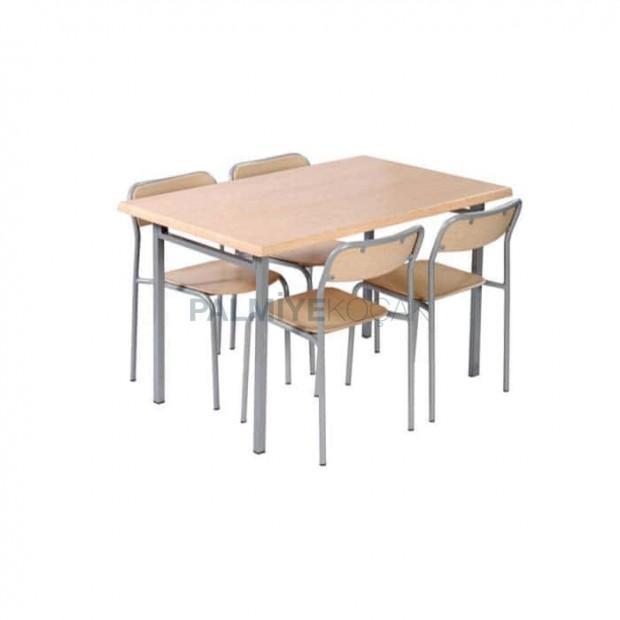 Akça Ağaç Yemekhane Verzalit Masa Sandalye Takımı