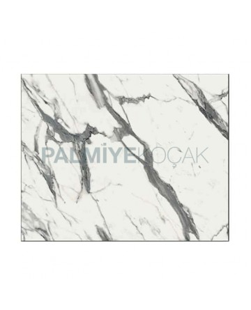 White Gray Marbled Werzalit Table Top