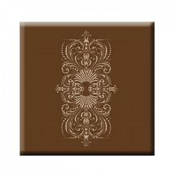 Brown Flower Patterned Werzalit Table Top