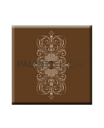 Brown Flower Patterned Werzalit Table Top