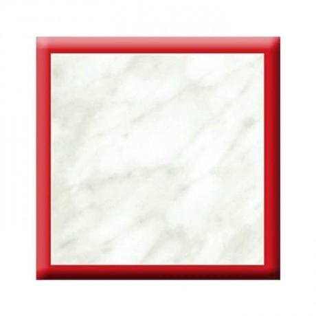 Kırmızı Şeritli Mermer Verzalit Tabla - vty03
