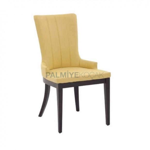 Yarım Kollu Krem Döşemeli Poliüretan Otel Sandalyesi