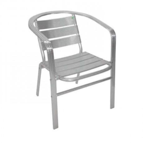 Yassı Kollu Alüminyum Sandalye - alb13