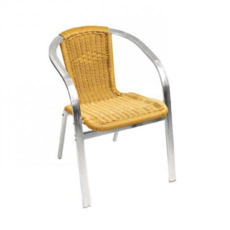 Yassı Kollu Saman Renkli Sandalye - alt01