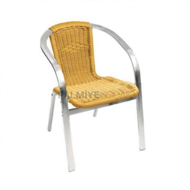 Yassı Kollu Saman Renkli Sandalye