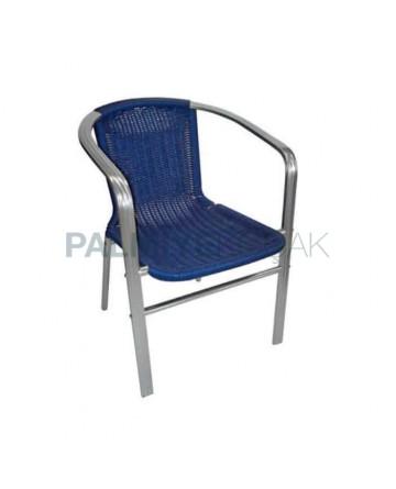 Braided Aluminum Horizontal Arm Chair