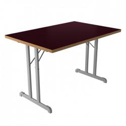 Gray Metal Leg Dining Hall Chair