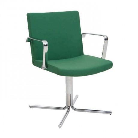 Yeşil Kumaş Döşemeli Krom Ayaklı Sandalye - psd251