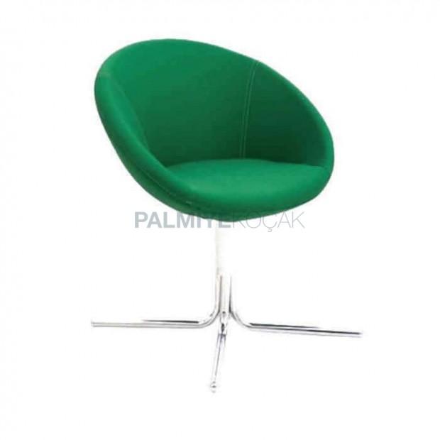 Yeşil Kumaş Döşemeli Metal Ayaklı Poliüretan Sandalye