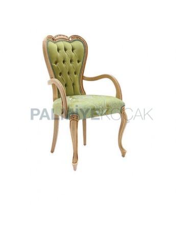 Green Fabric Lukens Leg Classic Armchair