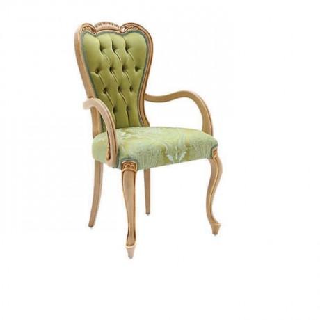 Yeşil Kumaşlı Lukens Ayaklı Klasik Kollu Sandalye - ksak92