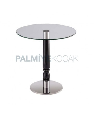 Black Painted Turned Leg Round Table