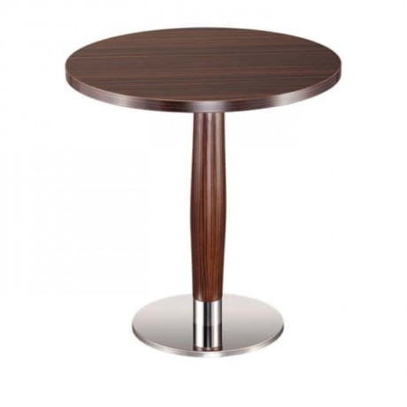 Stainless Steel Leg Antique Painted Round Table - mty8089