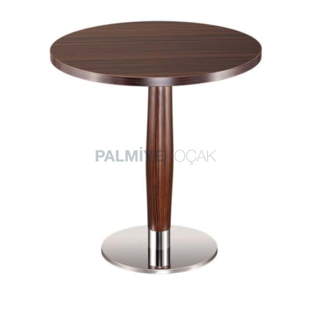Stainless Steel Leg Antique Painted Round Table