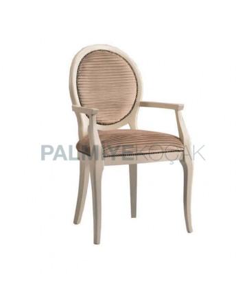 Yuvarlak Sırtlı Klasik Kollu Otel Sandalye