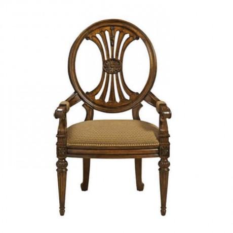 Yuvarlak Sırtlı Klasik Kollu Sandalye - ksak81