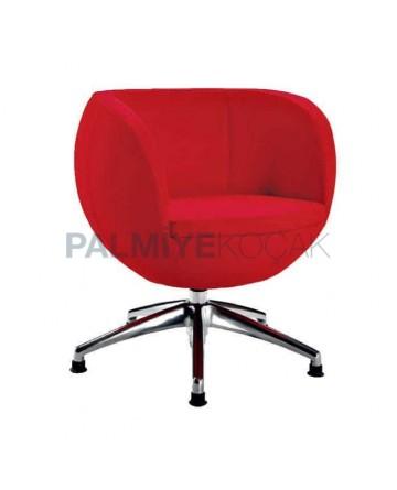 Round Sponge Metal Chromium Polyurethane Chair