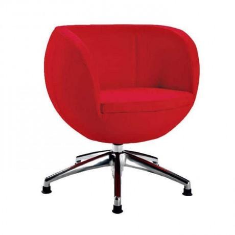 Yuvarlak Süngerli Metal Krom Ayaklı Poliüretan Sandalye - psd289