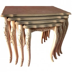 Classic Center Table with Gilded Lukens Legs